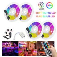 15/10/5m RGB LED Strip Light 3528 SMD 44 Key Remote 12V DC Power Full Kit Tape