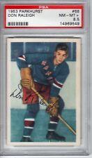 Don Raleigh 1953  Parkhurst  #68   PSA 8.5   RANGERS   Hockey