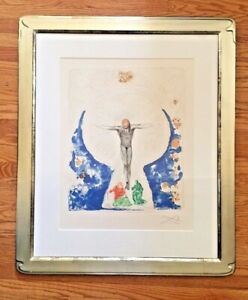 Original Salvador Dali CHRIST OF THE COMMUNION Signed Embossed Color Etching