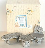 ENESCO Cherished Teddies Garden Furniture Figurines #202967 1996  - NEW IN BOX
