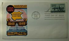 1949 100th Anniversary Minnesota Territory FDC Patriotic Illustrated Cover