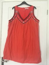 Anne Weyburn Orange Tunic Summer Dress / Top Size 20 ⭐️GC⭐️