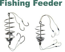 2 pcs Carp Spring Fishing Feeder - 8 Fishing Hook - Coarse Bait fishing tackle