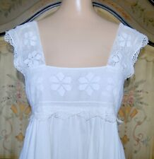 PURE DKNY Peasant White Lace and Embroidered Tunic Top size Small