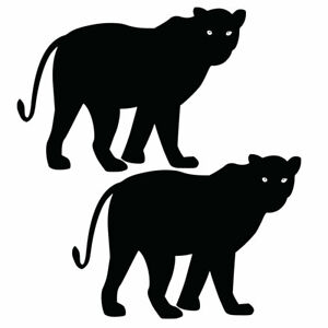 Qty 2 Panther 1 Stickers Car Window Wall Decals Any Colour BBB 10cm - 50cm