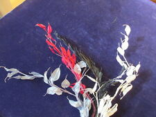 "Vtg Millinery Flower Collection 2"" Shabby Silver Dollar Wired Silk For Hat iW30"