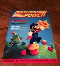 "Nintendo Power July 1988 1st Issue Mario 2 video game 24"" cover poster print"