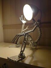 Table lamp metal boy steampunk design handmade unique industrial loft lamp