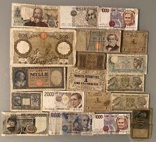 Lotto Banconote ITALIANE REPUBBLICA/REGNO TOTALE 30625 LIRE SPEDIZIONI COMBINATE