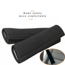 2X Car Seat Belt Cover Shoulder Safety Soft synthetic fibre Cushion Harness Pad