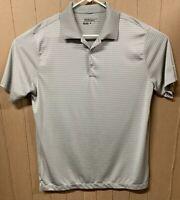 Nike Golf Tour Performance Polo; Mens Large; Dri-fit; Gray White Striped