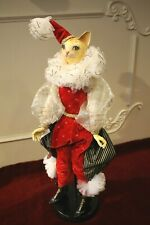 Goodwill Circus Cat Doll Clown Harlequin Decoration 68cm New Collectors Figure