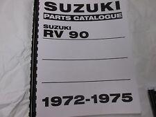 Suzuki RV90  parts manual   1972 1973 1974 1975