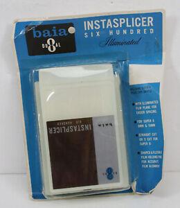 Vtg Baia Dual Instasplicer Six Hundred Illuminated Super 8 8mm 16mm Retro Movies
