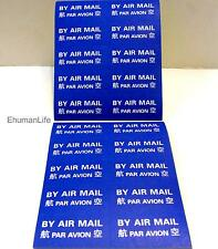 Self-Adhesive 3.7 x 1.5cm Mail Labels Sticker 500pcs BY AIR MAIL PAR AVION  i488