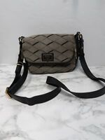 Fossil bag Crossbody Purse Leather Canvas Shoulderbag  Black  Gray Classic Zip