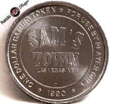 $1 SLOT TOKEN COIN SAM'S TOWN CASINO 1990 CT MINT LAS VEGAS NEVADA NEW RARE