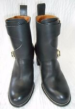 Chloe Black Leather Ankle Boots Size 38 1/2