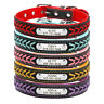 Braided Leather Personalised Dog Collar Custom ID Name Phone Free Engraved XS-L