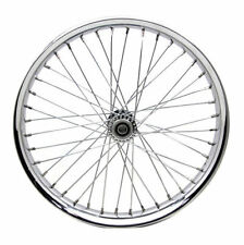 "Chrome Spool 21"" x 2.15"" 40 Spoke Front Rim Wheel Harley Chopper Custom Springer"
