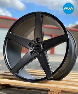 "20"" Inovit Rotor Alloy Wheels 5x120 Black Machined fits VW Transporter T5 T6"