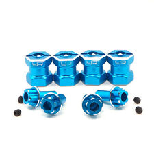 CNC machined Alloy hex adaptor 15mm offset for 12mm hex wheels-blue suit Axial