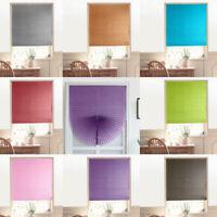 Self-Adhesive Pleated Blinds Bathroom Half Blackout Window Curtains 90x180cm  US