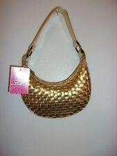 FADED GLORY Girls Gold Basket Weave Purse NWT