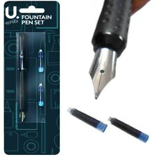 Professional Writing Fountain Pen Fine Nib Smooth Calligraphy Pen with 2 refills