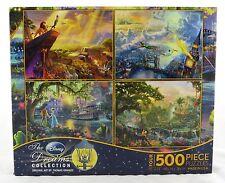 Disney Dreams 500 Piece Jigsaw Puzzle 4-In-1 Collection Thomas Kinkade NEW art