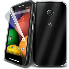 Super Transparent TPU étui coque Gel & Protection D'écran pour Motorola MOto E