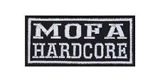 Mofa Hardcore Patch Aufnäher Badge Biker Heavy Rocker Bügelbild Kutte 2 Takt