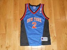 VINTAGE 1990s CHAMPION LARRY JOHNSON NEW YORK KNICKS NBA YOUTH REPLICA JERSEY MD