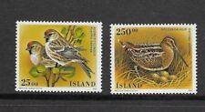 ICELAND 1995 BIRDS set of 2  MINT NH
