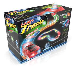 Mindscope LED Race Laser Twister Tracks 12' Foot Track Set And 1 Light Up Car