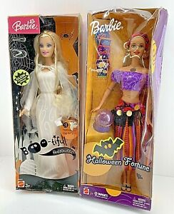 Ghost and Fortune Teller Barbie Dolls Boo-tiful Halloween Read Description