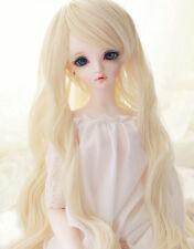 "1/3 8-9""LUTS Pullip SD BJD Doll Blythe Dollfie Wig Long BJD Wig Blonde Hair"