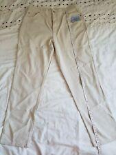NEW!! M&S Super Stretch Trousers size 18L UK Stone Cotton Lyocell Elastine
