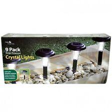 CLEAR CRYSTAL SOLAR LIGHTS 9PK