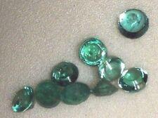 Esmeralda redondas identicas de 1,5 mm limpias a la vista, excelente brillo