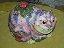 Porcelain Cheshire Cat Bank by Fitz and Floyd RARE 7 in MINT in Box