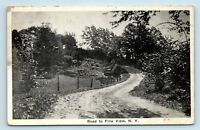 Fine View, NY - c1920s RURAL STREET SCENE DIRT ROAD - Postcard - A1