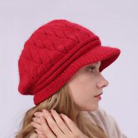 Refined Women Lady Winter Warm Knitted Crochet Slouch Baggy Beanie Hat Ski Cap