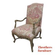 Vintage Baker Distressed Painted Fireside Lounge Arm Chair