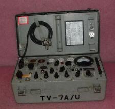 Vintage US Army Military Test Set Electron Tube Tester TV-7A/U