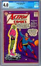 ACTION COMICS #242 CGC 4.0 *ORIGIN & 1ST BRAINIAC* SHRUNKEN CITY OF KANDOR 1958