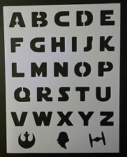 "Star Wars Font Alphabet Letters Darth Vader 8.5""x11"" Stencil Fast Free Shipping"