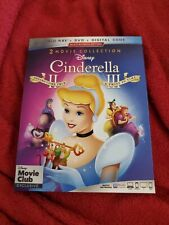Disney Cinderella II & III (Blu-ray/DVD) slipcover No Digital see description