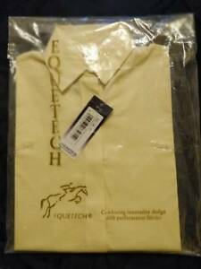 Equetech Junior Stretch Show Shirt Long Sleeve NJL-24-SY - Size 24 - Soft Yellow