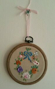 Embroidered Hoop Art/Wall Hanging